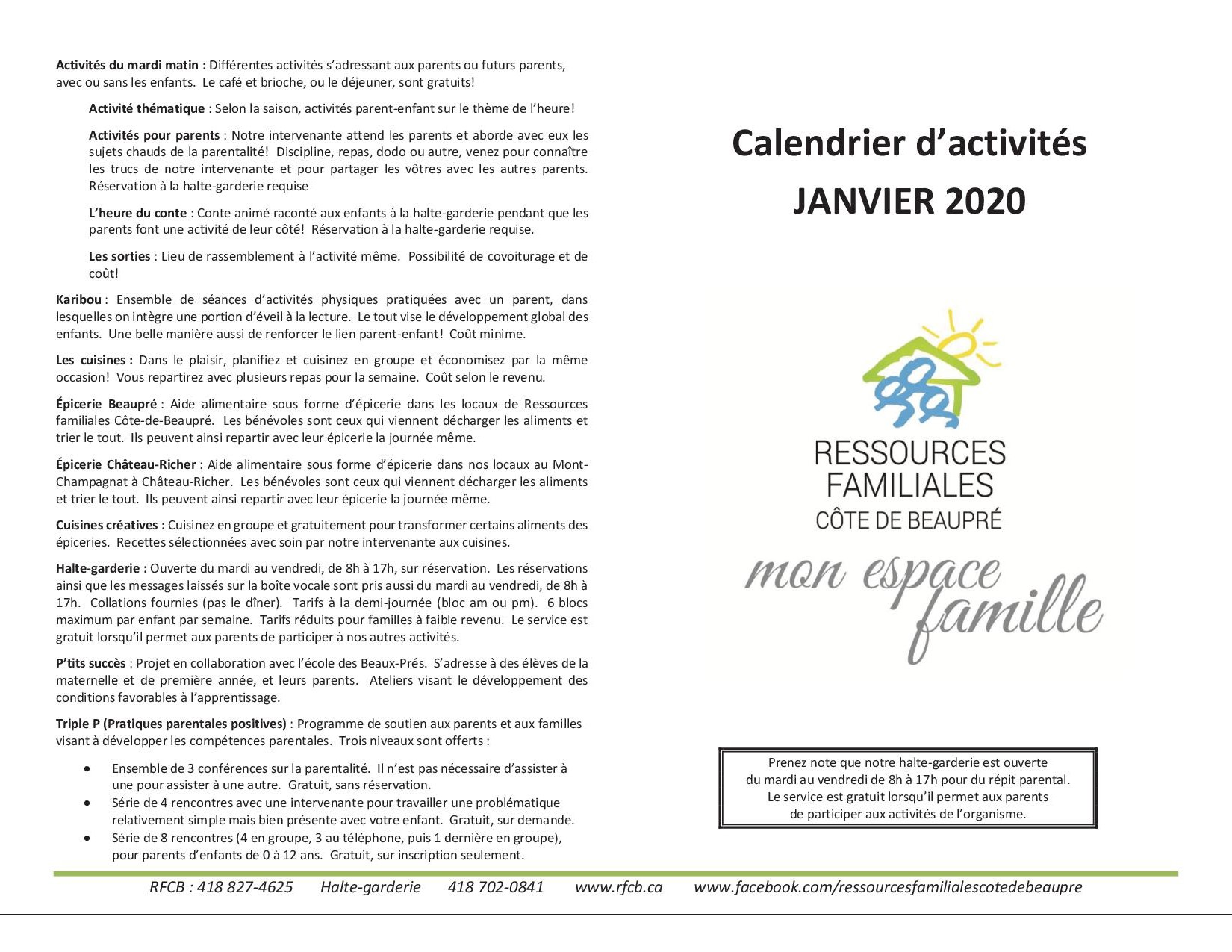 Calendrier jan 20201