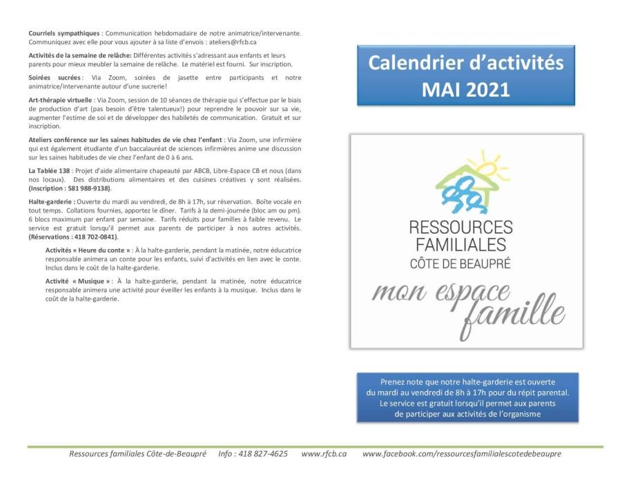 Calendrier RFCB 2021-051