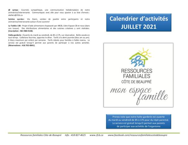 Calendrier RFCB 2021-071