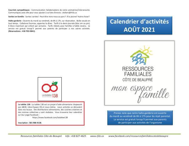 Calendrier RFCB 2021-081