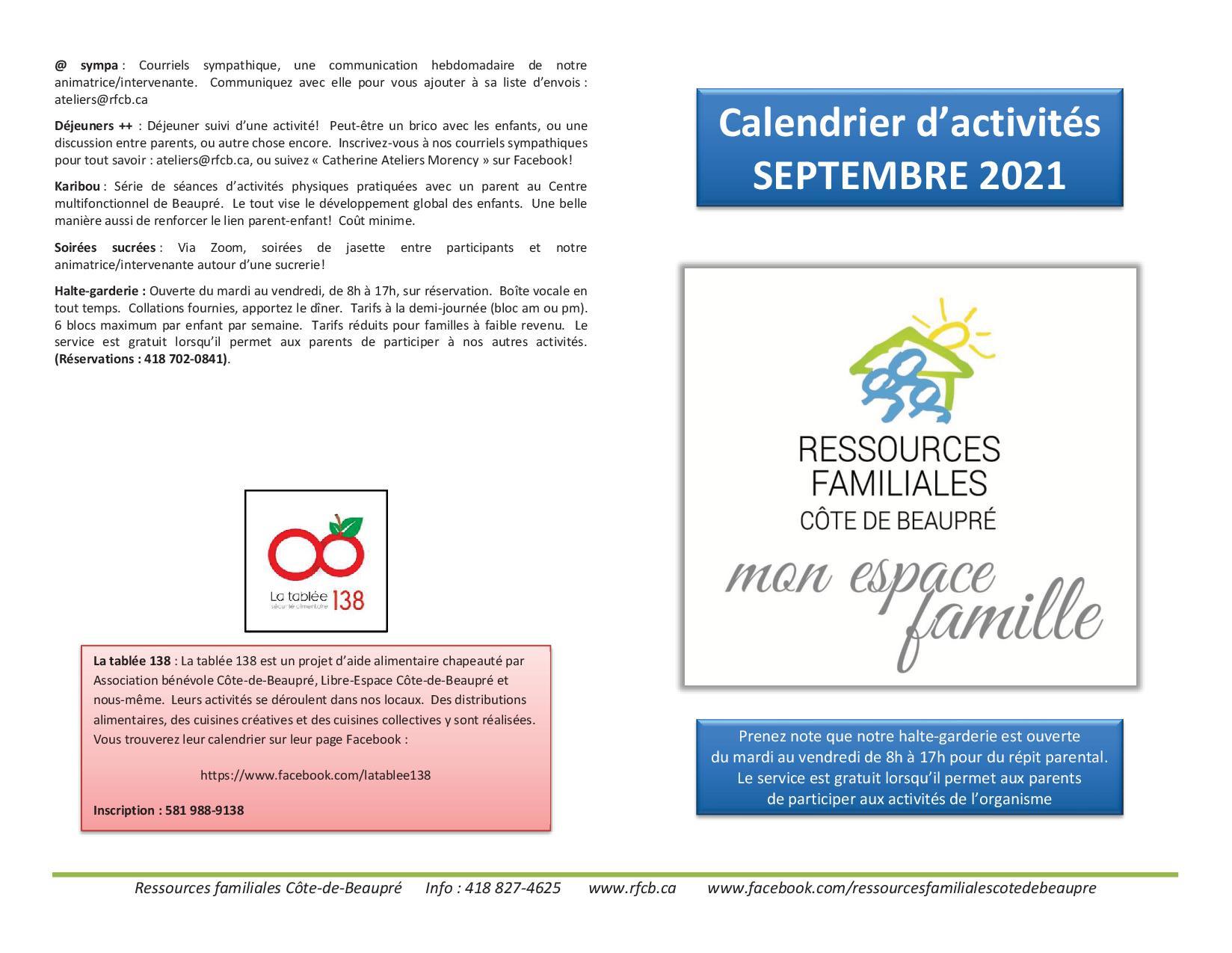 Calendrier RFCB 2021-091