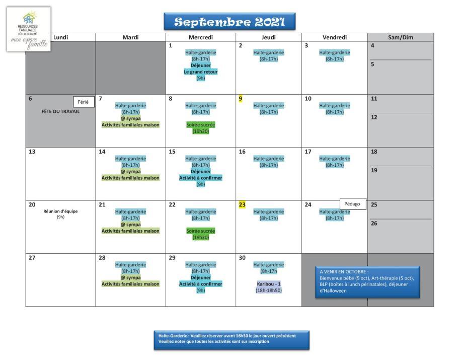 Calendrier RFCB 2021-092